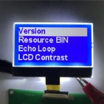 Small COG LCD module 128x64 dot matrix blue background display for water purifier