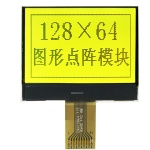 Graphic LCD Display 128x64 Pixels Yellow-Green Backlight