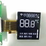 High Contrast BTN Segment LCD FPC Connector