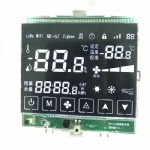 Customize High Contrast Black Segment LCD With Touch Icon