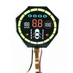 Round Segment LCD With Backlight For Auto